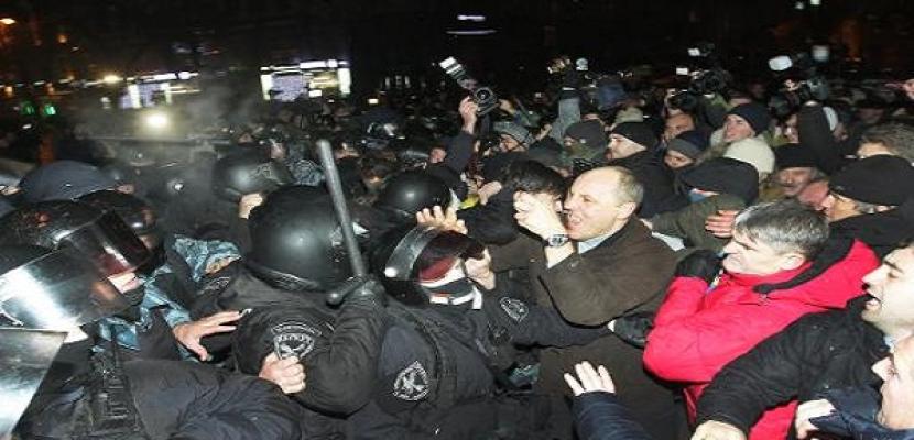 آلاف المحتجين في أوكرانيا بعد رفضها اتفاق شراكة مع الاتحاد الأوروبي
