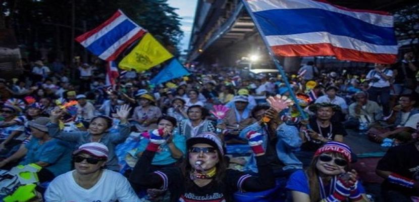 متظاهرو تايلاند ينظمون مسيرة لدعم مزارعى الأرز لعدم تلقى أجورهم