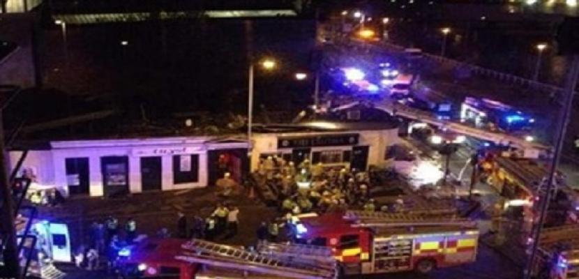 تحطم مروحية فوق حانة بمدينة غلاسكو الاسكتلندية