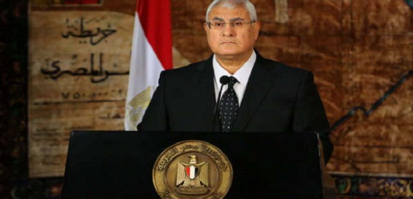منصور ورؤساء الدول العربية يتبادلون التهنئة بذكرى المولد النبوي