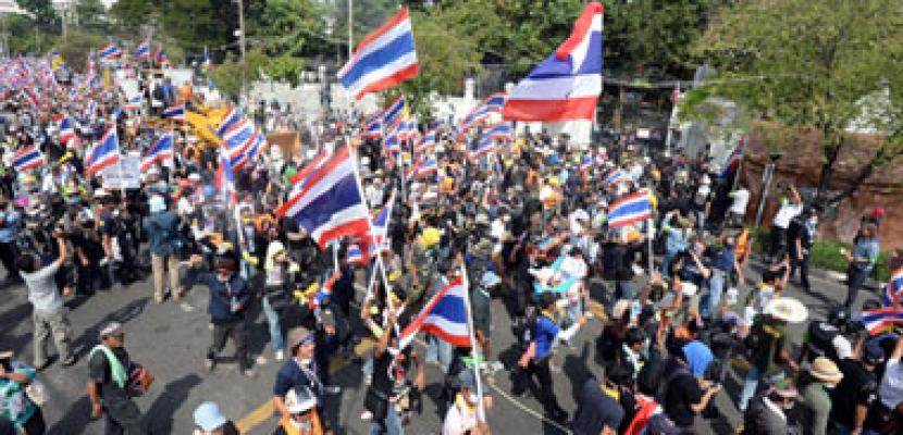 محتجون فى تايلاند يعتزمون الانسحاب من تقاطعات رئيسية بالعاصمة