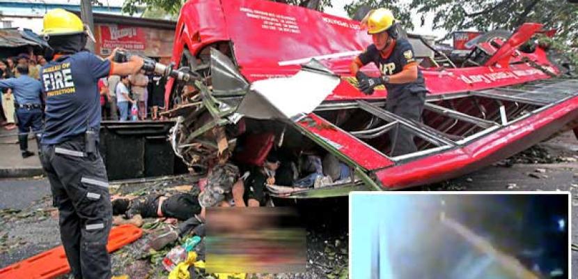 مقتل 14 شخصا إثر سقوط حافلة من على طريق بالفلبين