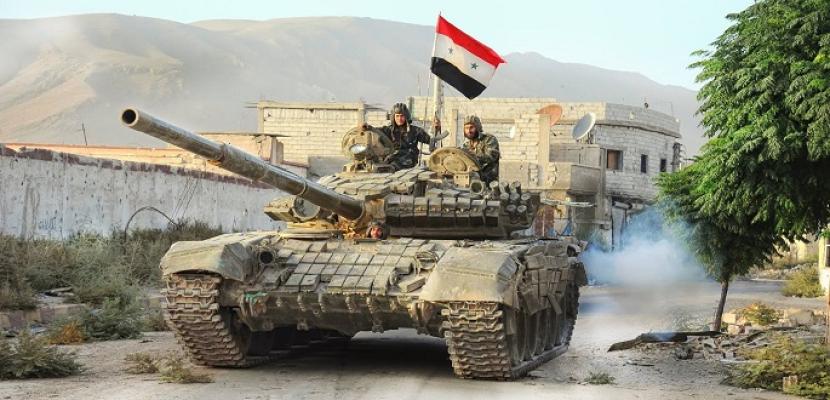 الجيش السوري يعثر على دبابات وأسلحة ثقيلة في منطقة القلمون الشرقي