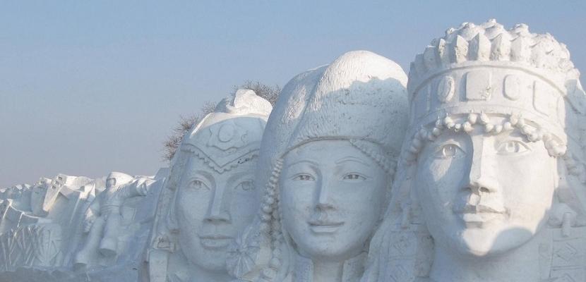 الفن والابداع باستخدام الثلج