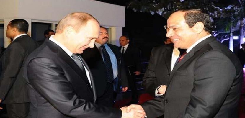 السيسي يهنئ بوتين على فوزه بفترة رئاسية جديدة