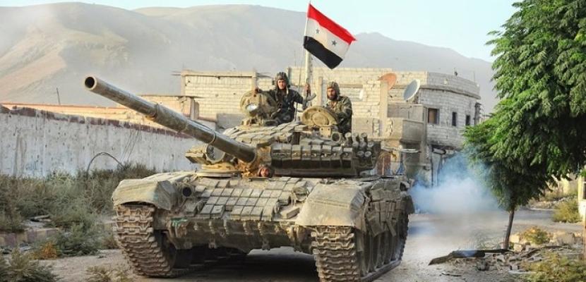 """الجيش السورى يدمر أوكارا لمسلحي """"فتح الشام"""" في ريفي حماة وإدلب"""