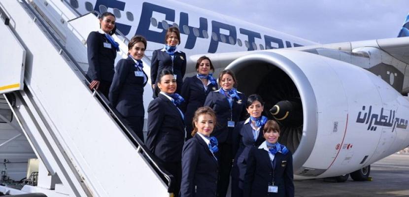 مصر للطيران تشارك في معرض الشحن الجوي بالصين