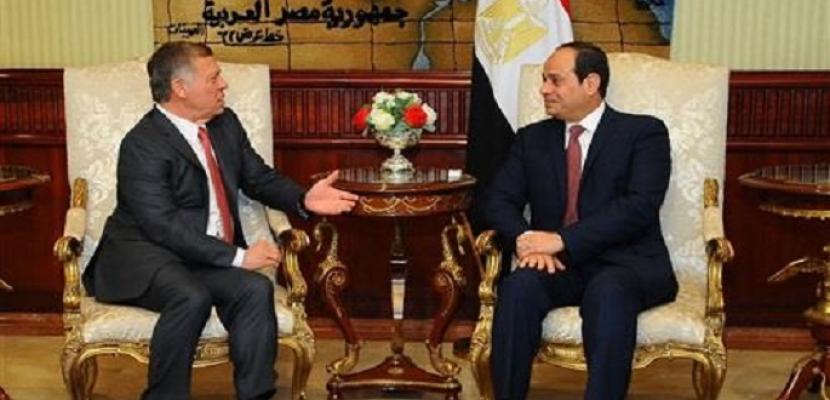 الرئيس السيسي يجري اتصالا هاتفيا بالعاهل الأردني حول تطورات المصالحة الفلسطينية
