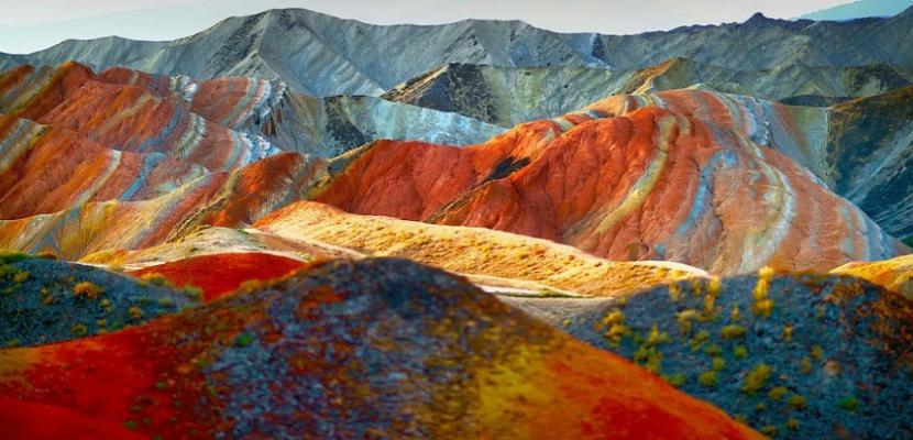 دانكسيا الصينية .. جبال بالألوان