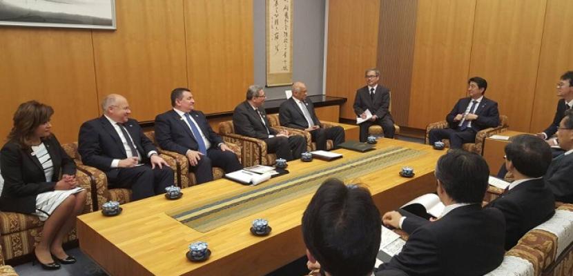 خلال لقائه عبد العال ..رئيس وزراء اليابان يتعهد بتقديم الدعم الكامل لمصر