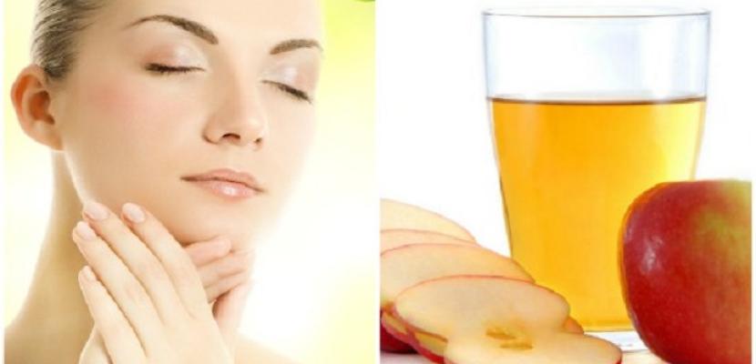 خل التفاح للتخلص من حبوب البشرة فى فصل الصيف