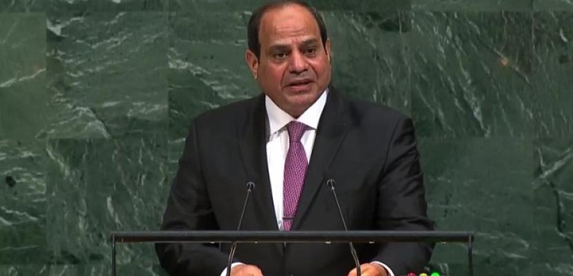 سامح شكري : كلمة السيسي رسمت المبادىء التي تسير عليها مصر في وضع سياستها الخارجية