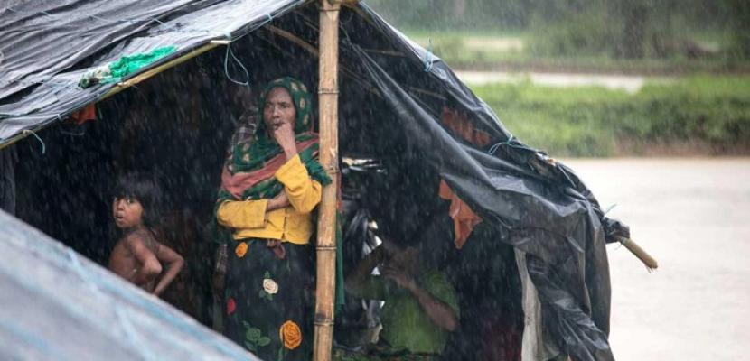 برنامج الغذاء العالمي: الأمطار دمرت آلاف المنازل بمخيمات الروهينجا في بنجلاديش