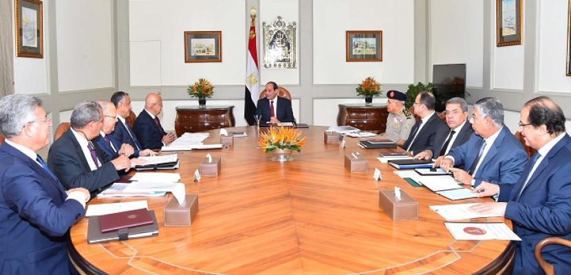 الرئيس السيسى يؤكد أهمية مواصلة الجهود لإنشاء منظومة حديثة ومتكاملة لتخزين الحبوب