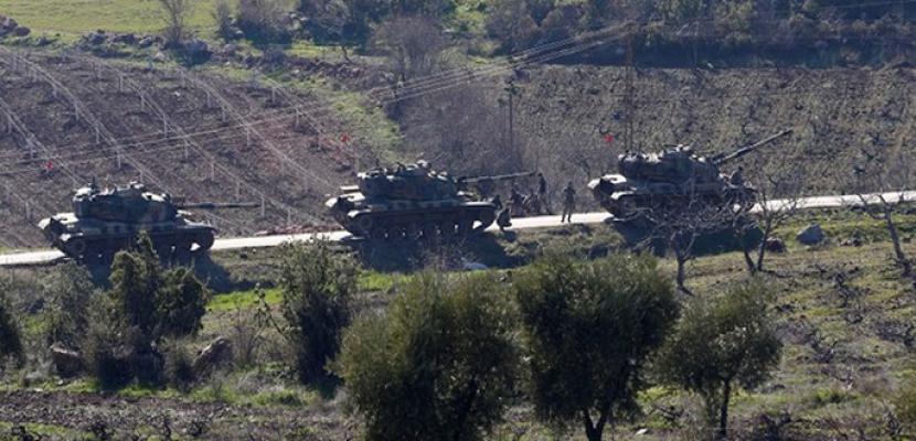 الجيش التركى يطوق مدينة عفرين السورية ويعلن سيطرته على مناطق استراتيجية فيها