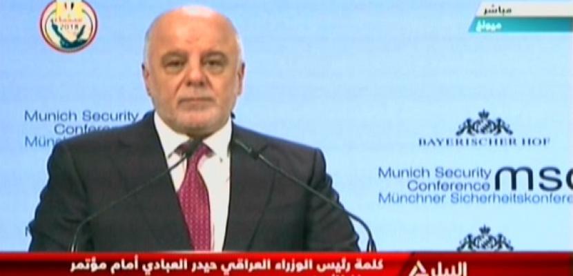 كلمة رئيس الوزراء العراقي حيدر العبادي أمام مؤتمر ميونخ للامن