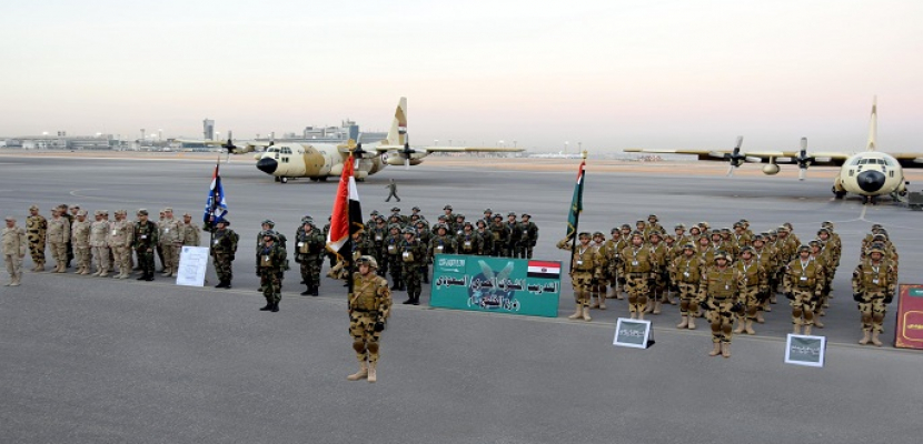 انطلاق التدريب المشترك (درع الخليج المشترك -1) بالرياض بمشاركة قوات مصرية
