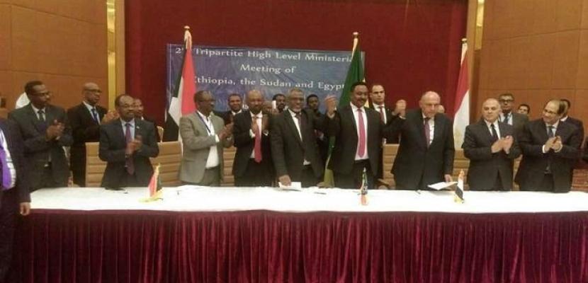 مصر والسودان وإثيوبيا يوقعون وثيقة مخرجات الاجتماع التساعي حول سد النهضة