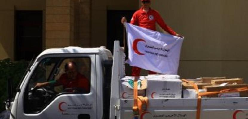الهلال الأحمر المصري يرسل الدفعة الأولى من المساعدات الطبية لقطاع غزة عبر معبر رفح
