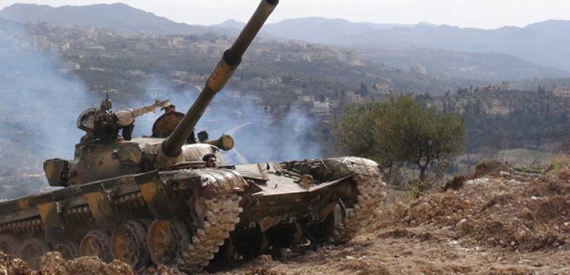 مقتل 40 مسلحا من عناصرالجماعات الإرهابية فى ريف حماة شمال غربى سوريا