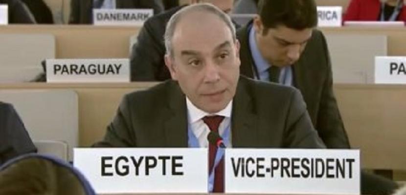 مندوب مصر بالأمم المتحدة : ندين استخدام القوة ضد المسيرات السلمية الفلسطينية