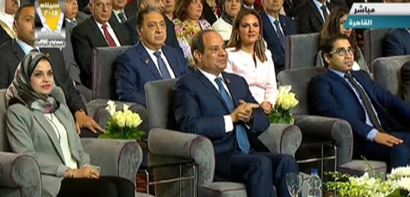 بالفيديو .. السيسي يشارك في جلسة رؤية شبابية للدولة المصرية ضمن فعاليات المؤتمر الوطني الخامس