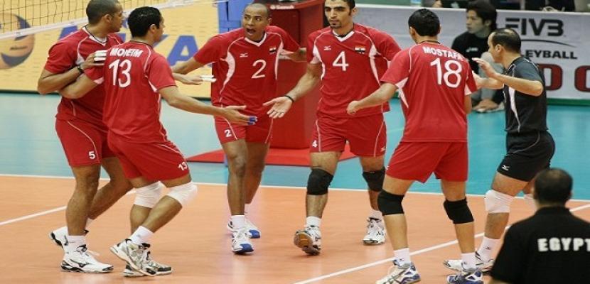 """منتخب مصر للطائرة """"رجال"""" يفوز على مقدونيا 3-2 في دورة ألعاب البحر المتوسط"""