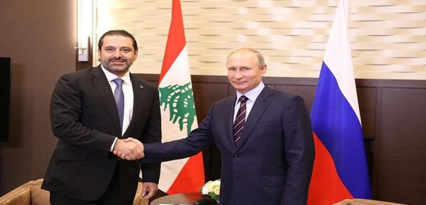 سعد الحريري يبحث اليوم العلاقات اللبنانية – الروسية مع بوتين