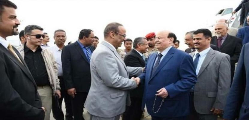 الرئيس اليمني يصل إلى عدن للإشراف على معركة الحديدة