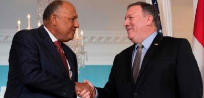شكرى: دفعة للعلاقات المصرية ــ الأمريكية الفترة المقبلة