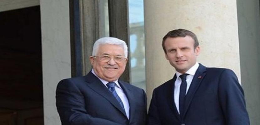 ماكرون خلال لقائه عباس: فرنسا تدين سياسة الاستيطان الإسرائيلية