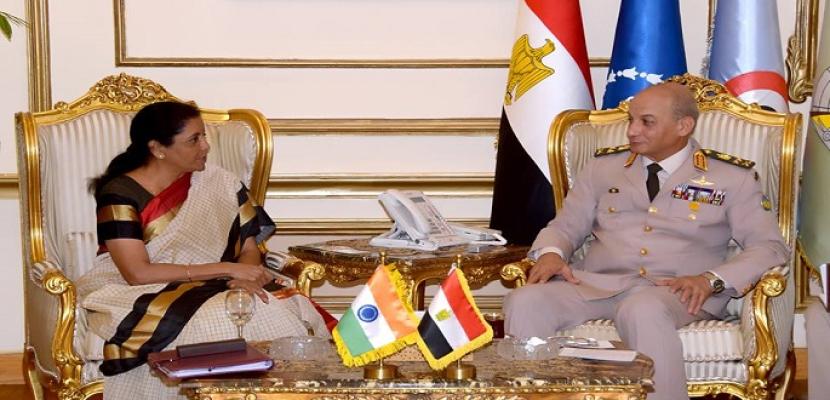 بالفيديو.. وزير الدفاع يبحث مع وزيرة دفاع الهند عددا من الموضوعات ذات الاهتمام المشترك