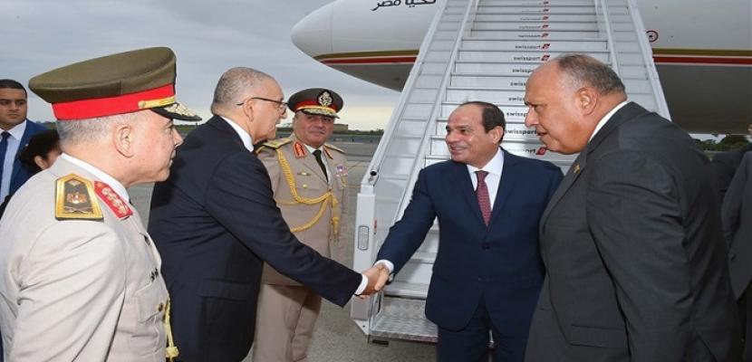 بالصور .. الرئيس السيسي يصل نيويورك للمشاركة في اجتماعات الجمعية العامة للأمم المتحدة