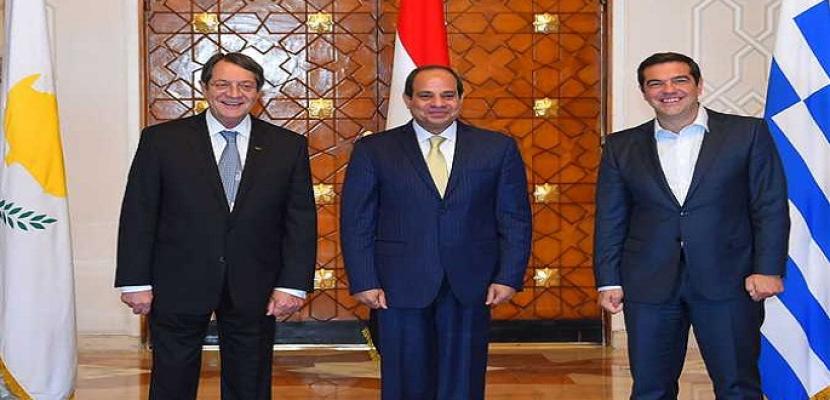 شينخوا: القمة المصرية اليونانية القبرصية نواة لتعاون دولي أكبر