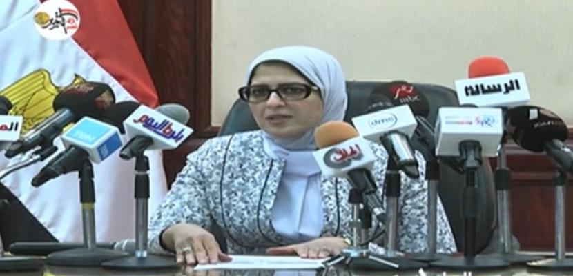 """وزيرة الصحة: الرئيس السيسي يوجه بعلاج الطفلة """"حنين"""" على نفقة الدولة وتوفير الرعاية الطبية لها"""