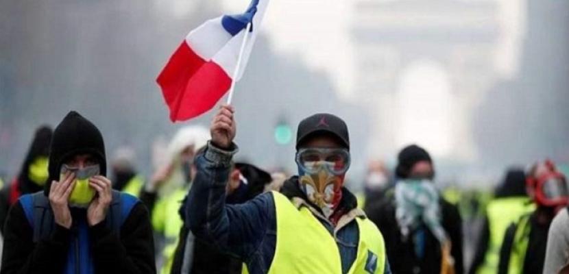 """محتجو """"السترات الصفراء"""" في الشارع لسبت تاسع من التظاهرات"""