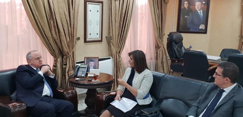 وزيرة الهجرة تبحث مع وزير العمل الأردني أوضاع العمالة المصرية