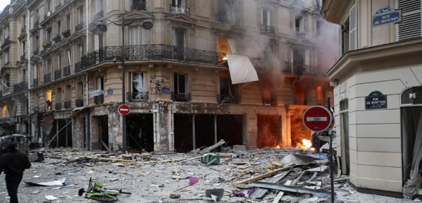 إصابة عدة أشخاص فى انفجار بمخبز وسط باريس ناجم عن تسرب غاز