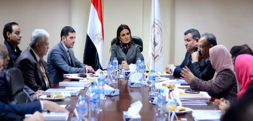 بالصور .. وزيرة الاستثمار تعقد اجتماعا مع مجلس إدارة المنطقة الإعلامية الحرة وتقوم بجولة داخل استديوهات المنطقة