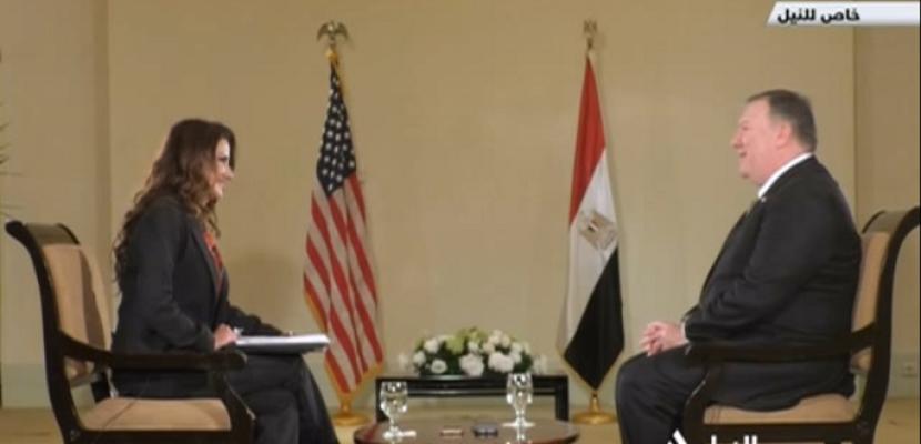 حوار خاص للنيل للأخبار مع وزير الخارجية الأمريكي مايك بومبيو