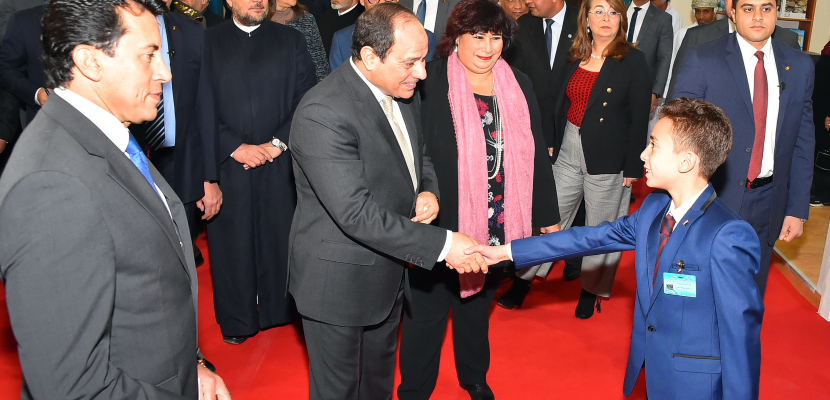 وزيرة الثقافة : افتتاح الرئيس لمعرض الكتاب يعكس اهتمام الدولة بالتنوير