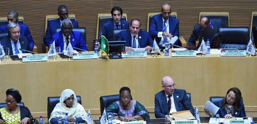 الرئيس السيسى : تماسك المؤسسات الوطنية في افريقيا وتعزيز التعاون الأمنى سيؤدي لدحر الكيانات الإرهابية