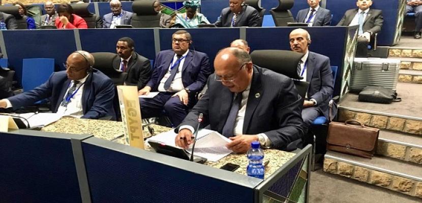 نيابة عن الرئيس السيسى .. شكرى يُشارك فى اجتماع لجنة الاتحاد الأفريقي رفيعة المستوى حول ليبيا