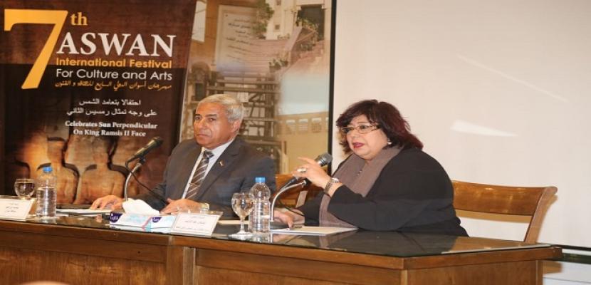 وزيرة الثقافة : ننظم 110 فعاليات احتفالاً برئاسة مصر للاتحاد الأفريقى