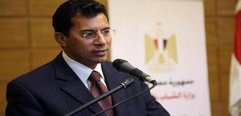 وزير الرياضة يؤكد دعم مشروع الموهبة والبطل الأوليمبي