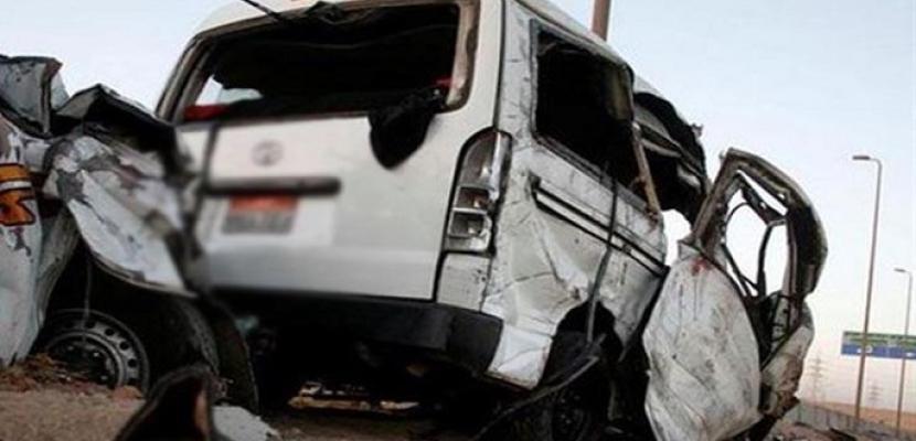 إصابة 16 شخصا فى حادث تصادم سيارتين بطريق الأوتوستراد