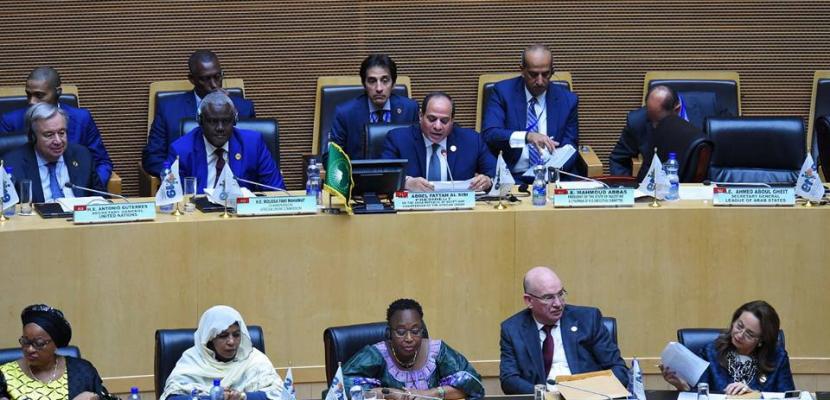 الرئيس السيسي: قمة الاتحاد الافريقي شهدت نجاحا ملموسا وتوافقا على أولويات العمل المشترك