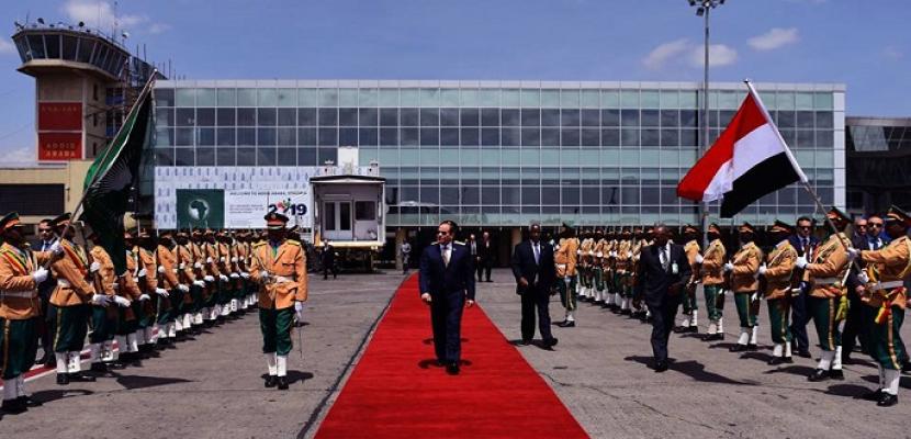 بالصور.. الرئيس السيسي يعود إلى القاهرة بعد زيارة إلى إثيوبيا تسلم خلالها رئاسة الاتحاد الأفريقي