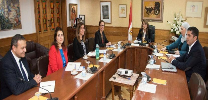 وزيرة التضامن تبحث مع البنك الدولي برامج الحماية الاجتماعية