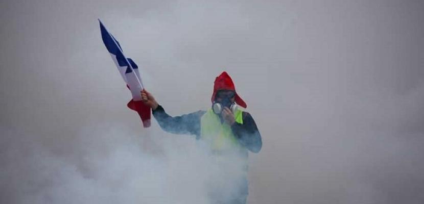 """الاحتجاجات تتراجع وبريق """"السترات الصفراء"""" يخفت في شوارع فرنسا"""